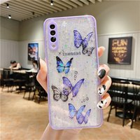 Bling cell Phone Case for 12 mini 11 pro max Butterfly Giltter cover iphone xr 8 7 plus shell A42 A52 A72