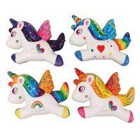 Squishy Cartoon Einhorn Pferd langsamer Aufstieg Spielzeug Squeeze Dekompression Zappeln Spielzeug Weiche Schaum Squillies Rainbow Wings Kinder Geschenke Haus