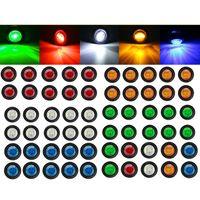 """10pcs 5color 12v 3led 3/4 """"3528 SMD Universal Carro Carro Trailer Mini Pequeno Redondo Vermelho LED Bullet Botão Lado Luzes Luzes Sinal"""
