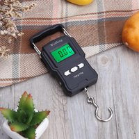 Boat Fishing Rods 75Kg 10g Electronic Weighing Scale 50Kg 5g LCD Digital Display Hanging Hook With Measuring Tape For Travel