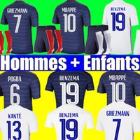 France soccer jersey Euro 2020 2021 football shirt France jersey French 100th birthday 100 years soccer jersey of the Football World Cup MBAPPE men + kids kit