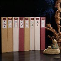 35pcs / 상자 천연 수제 아로마 테라피 향 라벤더 재스민 향 스틱 명상 아로마 향기 집 찻집 향기