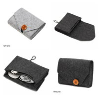 Storage Bags 1PC Home Organization Key Coin Package Mini Felt Pouch Earphone TF Card Power Bank Data Cable Travel Organizer