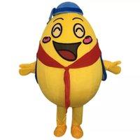 Halloween Frango Egg Mascot Traje de Alta Qualidade Cartoon Plush Anime Tema Caráter Adulto Tamanho Natal Carnaval Festa de Aniversário Outdoor Outfit