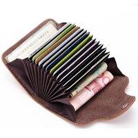 Card Holders High Grade Bag Unisex Multicolor Women Holder Genuine Leather Money Storage Female Purse Handbag Business Clutch Wallet