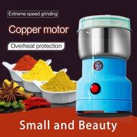 Neue leistungsstarke elektrische Kaffeemühle Edelstahl Kaffeebohne Trockenkörner Schleifmaschine mit Kleinkasten