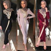 Vêtements ethniques Non Hijab Abaya Dubai Turquie Musulman Fashion Robe Islam Perles Robes Abayas pour Femmes Musulman de Mode 2021 Eid