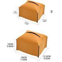 Kosmetiska väskor Fodral PU Läder Ansiktsvävnad Box Pappershållare