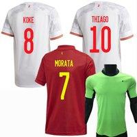 2021 2022 Spanien Nationalmannschaft Fussball Trikots Morata Simon Pedri Sarabien A.Imasta Gerard Thiago M.llorente 20 21 22 Zuhause weg Fußball Männer und Kinder Frauen Hemd
