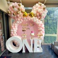 122pcs globo guirnalda arco kit rosa blanco oro látex aire globos girl regalos bebé baby shower cumpleaños boda fiesta decoración suministros