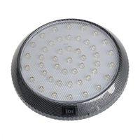 Acil durum ışıkları çatı tavan kubbe açık beyaz okuma lambaları araba araç 46-led iç kapalı 12 V 12.5 x 12.5x 2 cm