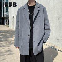 Costumes pour hommes Blazers IEFB Spring Classique Mid Longueur Black Gris Vestes pour Hommes 2021 Style coréen Casual Blazer à poitrine unique 9Y7876