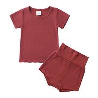 Milancel Summer Baby Pajamas набор с коротким рукавом o шеи и брюки спать 210915