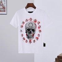 21ss мужские женщины дизайнерские футболки роскошные Philipp равнинные мужчины Monc рубашка супер толстовки пружины с коротким рукавом череп алмазные топы сумки 11