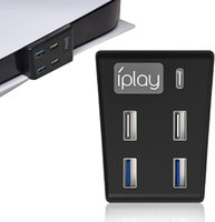 USB Hub for PS5 High-Speed Data Transfer Splitter Adapters with 4 Charging Ports for Playstation 5 Disc & Digital Edition