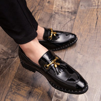 Erkekler Püskül Loafer'lar Erkek Loafer'lar Deri Adam Ayakkabı Deri Püskül Mocassin Homme Calzado Hombre Zapatos De Hombre Erkek Ayakkabı F4Yr #