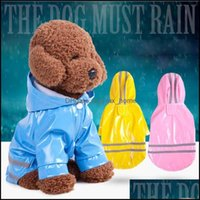 Apparel Supplies Home & Garden3 Color Hooded Pet Pu Reflection Raincoats Waterproof Clothe For Small Dogs Chihuahua Yorkie Dog Coat Poncho P