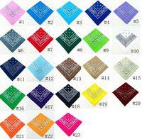 54 * 54cm Algodón Novedad Impresión de doble cara Paisley Bandanas Cowboy Bandana Handkerchiefs Paisley Print Head Wrap Scarf