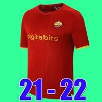 Tops Mancini Veretout B. Mayoral 2021 2022 Totti de Rossi Como Dzeko Futebol Jerseys Roma 21 22 Camisas de Futebol Kits Kits Set