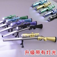 Stationery Creative Eat Chicken 98k Sniper Gel Pen Fashion Student Rifle with Light Gun Modeling Water