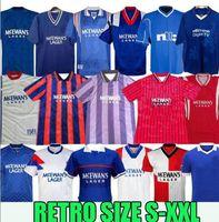 87 90 92 93 94 95 96 97 99 01 08 Glasgow Rangers FC Rétro Soccer Jerseys 20 21 Gerrard Gascoigne Laudrup Gerrard McCoist Uniformes de football