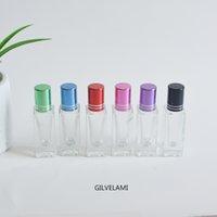 5ml Multi Color Mini Roller Flaschen Leer Rolle Auf Röhren Essential Lippen Öl Walzkugel Klarglas Flasche Packung