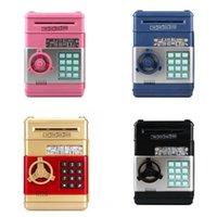 Elektronische Piggy Bank ATM-wachtwoord Money Box Cash Munten Sneken ATM Bank Safe Box Auto Scroll Paper Bankbiljet Gift voor Kids 57 S2