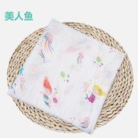 Muslin Baby Manta Algodón Recién Nacido Swaddles Baño Gauze Infantil Wrap Kids Sleepsack Mochila Play Mat 234 S2