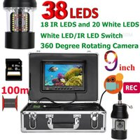 Cameras DVR Recorder Underwater Fishing Video Camera 9 Inch Fish Finder IP68 Waterproof 38 LEDs 360 Degree Rotating 20M 50M