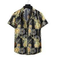Camisa Casal Solta Blusa Havaí Chemise Chemise Homme Mens Mens Cardigan Manga Curta Praia Havaiana Camisa # G30