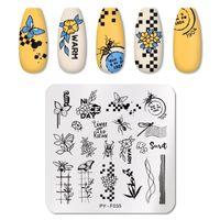 Pict You Nail Stamping Plates Insetti Plant Pattern Nail Art Piastra Stencil Linea Immagini Tema di Natale Piastre di immagine Stampo