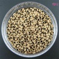 20000units Nano Tip Extensión de cabello pre-unida - Nano Cooper Micro Anillos Beads + 3 Threader