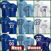 2021 토론토 새로운 블루 제이스 야구 유니폼 맞춤형 27 블라디미르 Guerrero Jr. Mens 4 조지 스프링 여성 11 조지 벨 32 Dave Winfield