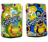 Новейшие GobStopper съедобные съедобные 600 мг Конфеты Gummy Упаковочная сумка Снеженные Колбы Жевательные Лекарственные Освещенные губки Встаньте UP Resealable Edibles Mylar Упаковочные пакеты