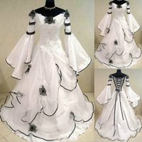 Plus Size Wedding Dress lace up Back Garden Transparent 3 4 Sleeve Lace A Line Sweep Train Appliques Bridal Gowns Custom Made