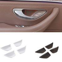 ABS Plastic Texture Door Bowl Cover Panel Fit For Mercedes Benz C E GLC Class W205 W213 X243 Auto Interior Accessories