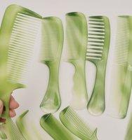 Toptan 10 adet Profesyonel Saç Fırçalar Tarak Farklı Türleri Yeşil Büyük Küçük Mini Boyutu Kuaförlük Fırça Styling Aracı