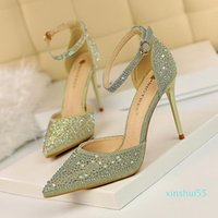 Women Dress Shoes Red Bottom High Heels Womens Designers Genuine Leather Pumps Lady Sandals Wedding Bottoms with Box Black Golden Gold Shoes