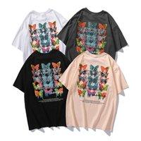 2021 New Fashion Cotton T-shirt da donna T-shirt a farfalla Stampa a farfalla Uomo e moda donna girocollo moda maniche corte in maniche corte