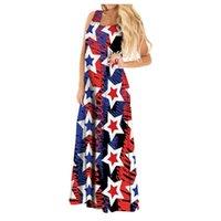 Casual Dresses 40# Beach Long Dress Women Sleeveless Printed Tank Maxi Plus Size Sundress Bohemia Low Cut Robe Femme
