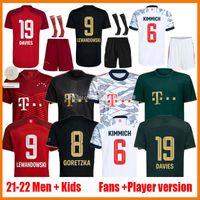 21 22 Lewandowski futebol jerseys Ventilador Versão Sane Goretzka Munique Coman Muller Davies Bayern Kits Kits 2021 2022 Camiseta Camisa de Futebol Camisas de futebol