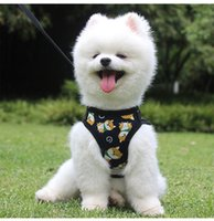 Pet Supplies Leash Plush Chest Strap Cat Shiba Inu Dog Apparel Seat Covers Dogs Adjustable Breathable Mesh Nylon Vest Breast-band Puppy Halter Traction Supply