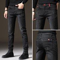 Men's Jeans Brand Men Slim Fit Skinny Denim Designer Elastic Straight Stretch Trousers For