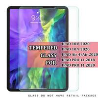 ل iPad Pro 11 2020 iPad 10.8 2020 10.9 Air 4 Air4 iPad Pro 11 2018 9h شفاف واضح الزجاج اللوحي حامي الشاشة فيلم في كيس مقابل
