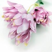 الزهور الاصطناعية الحرير نسيج الزفاف حزب المنزل diy الزهور ديكور جودة عالية باقة كبيرة حرفة وهمية زهرة zze5148