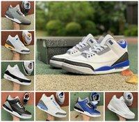 2021 Racer Blue 3 3s Scarpe da basket Mens Cool Grey A MA MA MA MANIERE CUC Frammento Knicks Linea di tiro libero Jordán Denim Red Black Cemento Puro Bianco Sneakers Sneakers US 7-12