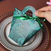 T-shaped Handle Candy Bag Wedding Candy Box without Ribbon Birthday Party Baby Shower Favors Gift Box OWE5123