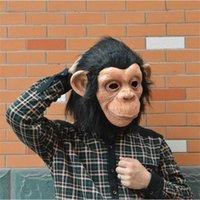Monkey: Bel Face Big Ear Latex Diamond Diamond Mask Ambiente Amichevole per Halloween Cosplay Party Night Club