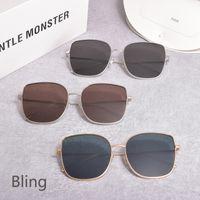 GM women metal square frame glasses Sunglasses GENTLE Polarized UV400 Sun glasses MONSTER Bling suncglsseswomen men