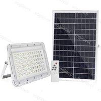 المصابيح الكاشفة الشمسية 100W 200W 300W يارد مصباح IP66 6500K السيارات مع بانيل في الهواء الطلق للحديقة شارع المرآب بارك DHL